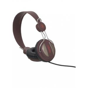 WeSC Oboe HiFi DJ Headphones with Mic Rusty Red: Click to enlarge image!