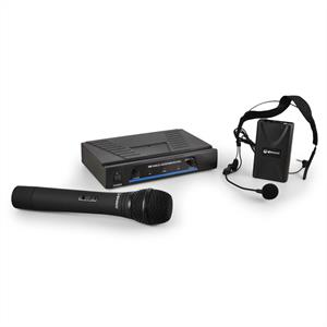 QTX 171.810 Wireless Microphone Set with 2 Cordless Mics: Click to enlarge image!