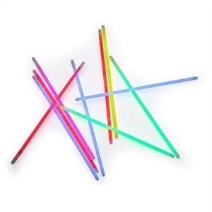 Multicoloured 100 Glow Sticks - 5 different colours: Click to enlarge image!