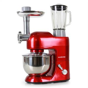Klarstein Lucia Rossa Food Processor Meat Mincer Mixer 1200W - Red: Click to enlarge image!