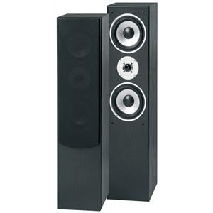 Pair Skytronic SHFT60B Home Hifi Tower Speakers 3-Way Bass Reflex 350W - Black: Click to enlarge image!