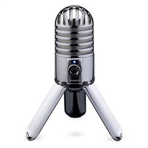 Samson Meteor USB Condenser Microphone Cardioid Tripod Chrom: Click to enlarge image!