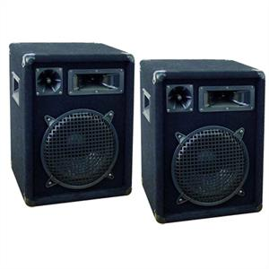 "2 x Omnitronic DX1022 10"" Passive DJ PA Speakers- 800 Watt Pair: Click to enlarge image!"