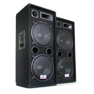 Auna 2000W Speaker Pair PW-2222 3 Way Speaker 2 x 12&amp;quot;: Click to enlarge image!