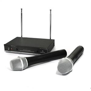 Auna FU-2-B wireless microphone system + 2 Microphones: Click to enlarge image!