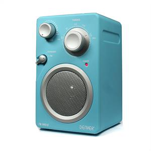 Denver Design TR-43C Compact FM radio AUX - turquoise: Click to enlarge image!