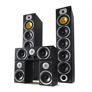 Beng V9B 5 Channel Home Theatre Speakers Set Black 1240W MAX: Click to enlarge image!