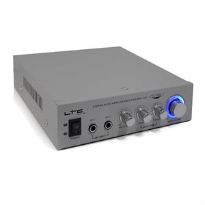 LTC HiFi Karaoke PA DJ Amplifier 200 Watts Max - Silver: Click to enlarge image!
