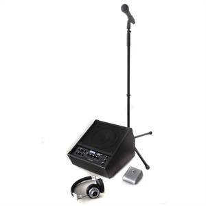 Ibiza Stage Kit - Amplifier, Microphone, Mic Stand &amp; Headphones: Click to enlarge image!