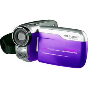 Easypix DVC-5030 HD Video Camera Camcorder 5MP - Purple: Click to enlarge image!