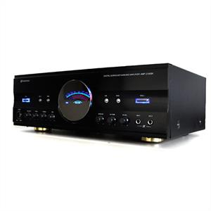 Skytronic 5.1 Channel Hi-fi Surround Amplifier 600W Black: Click to enlarge image!