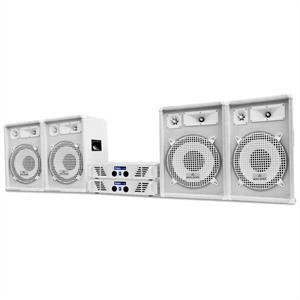 DJ PA System White Star Series 'Arctic Winter Pro' 2400W Set: Click to enlarge image!