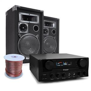 DJ PA System Bassalt 600W Amplifier &amp; Speaker Package: Click to enlarge image!