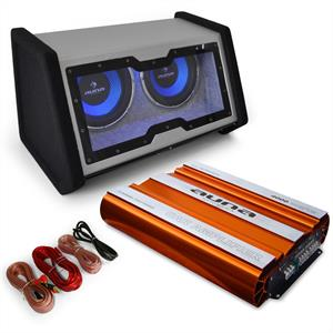 Car Audio System 'Bassophant' 0.1 Amplifier Subwoofer 4000W Set: Click to enlarge image!