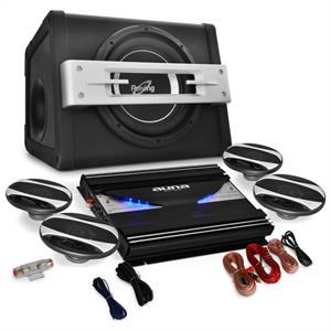 4.1 Car HiFi System Black Line 580 Amplifier Speaker Set