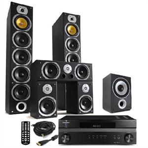 Hifi System &amp;quot;Bass Lover II&amp;quot; HD Home Cinema Theatre Amp &amp; Tower Speakers: Click to enlarge image!