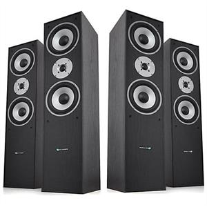 Pair Hyundai Multicav 3-way Bass Reflex Speakers 700 Watts