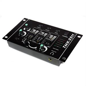 Auna TMX-2211 2/3 Channel DJ Mixer with Microphone Input: Click to enlarge image!