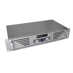 "Skytec PA-480 Watt DJ PA Amplifier 19"" Rack Mountable - Silver: Click to enlarge image!"