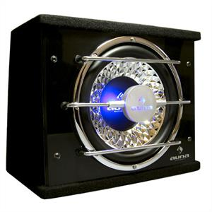 "Auna 10"" In-Car Hifi Subwoofer Bassbox 600 Watts with LED lights: Click to enlarge image!"