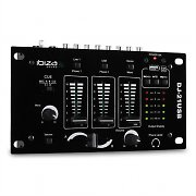 Ibiza DJ-21 2/3 Channel USB DJ Mixer with Talkover