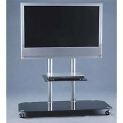 Home Cinema TV Stand w.LCD Mount & Black Glass Shelf/Base