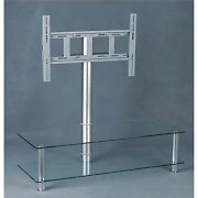 Home Cinema TV Stand Mount with Glass Shelf Cabinet