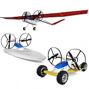 Takira Remote Controlled RC 3-in-1 Kids Airplane/Car/Boat Kit