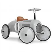 Marquant Vintage Kids Ride-On Toy Race Pedal Car Silver