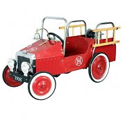 Marquant Classic Vintage Ride-On Kids Toy - Fire Truck
