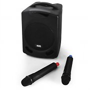 Koolsound Discover Mobile DJ PA Speaker System + Mics