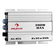 Auna 2 Channel Compact 300W In-Car Hifi Amplifier - Silver