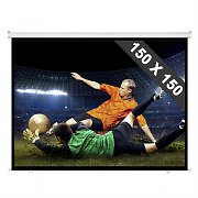 Roll-up Home Cinema Projector Screen HDTV 150x150cm