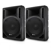 "Pair 15"" Skytec RC15 PA Active Speakers 1600 Watt Set"