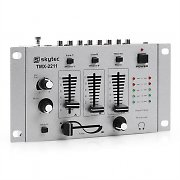 Auna TMX-2211 3/2 Channel Party DJ Mixer with Talkover