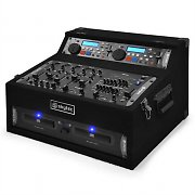 B-Stock - DJ PA System with Dual CD Player 4 Channel Mixer & Rack Case