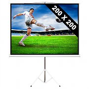 Home Cinema Projector Screen with Tripod 200x200cm