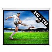 Roll-up Home Cinema Projector Screen HDTV 240x240cm