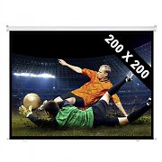 Roll-Up Home Cinema Projector Screen 200x200cm