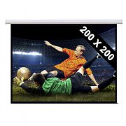 Motorised Cinema Projector Screen HDTV 200x200cm