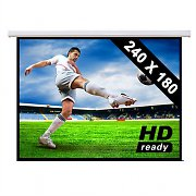 Motorised Cinema Projector Screen HDTV 240x180cm 4:3