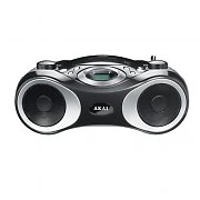 Akai APR C11M Portable Hifi Stereo System CD Player AUX Black