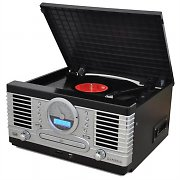 Trevi TT1064E Retro Vinyl Record Player Turntable with CD Tape USB SD