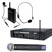 KAM KWM1935 UHF Wireless Headset Lapel Microphone Set