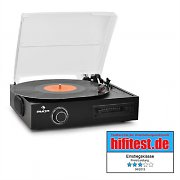 Auna TTS-T33 Record Player Turntable Stereo System Vinyl/Tape MP3 Recording