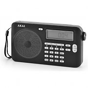 Akai PW-15 World Receiver Radio Alarm clock FM-LW-MW-KW