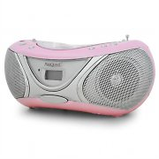 Marquant MPR-53 Portable CD Player Stereo System - Pink