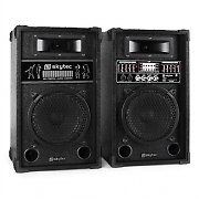 "Skytec 8"" Active DJ PA Speaker Set - 600W USB SD MP3"