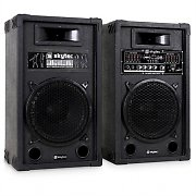 Skytec PA Speaker System Active & Passive 800W USB SD MP3
