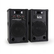 "Skytec 12"" Active DJ PA Speaker Pair 1200W USB-SD-MP3"